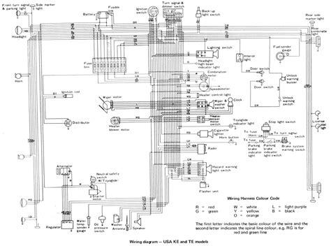 auto wiring diagram  toyota corolla wiring diagram