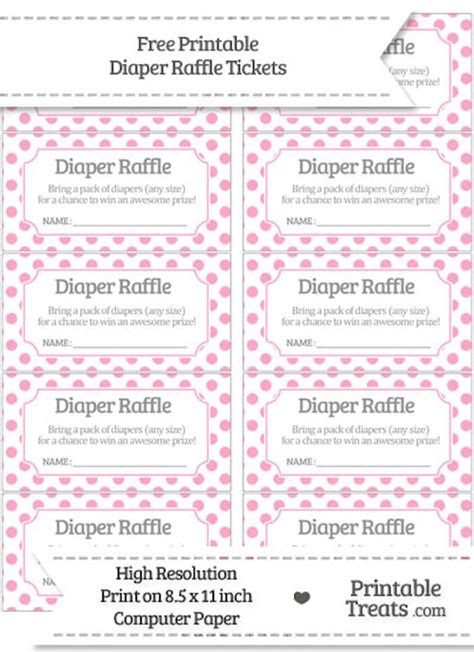 free printable raffle tickets for baby shower 10 free printable diaper raffle tickets