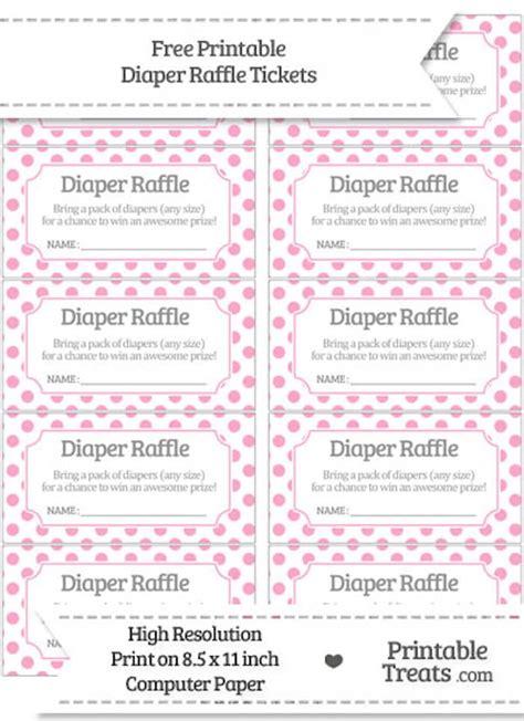 free printable diaper raffle tickets girl 10 free printable diaper raffle tickets