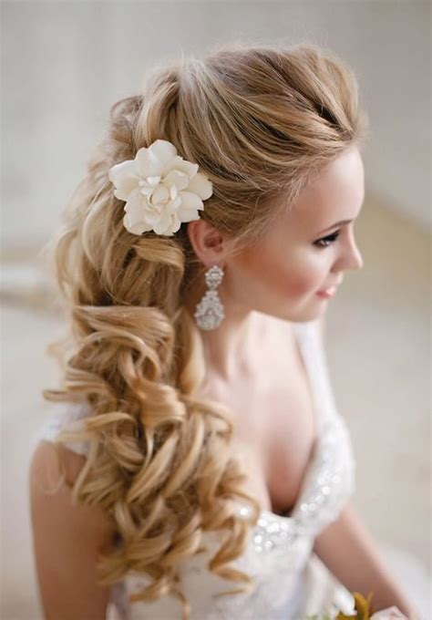 curls hairstyles on the side 38 gorgeous wedding hairstyles with fresh flowers