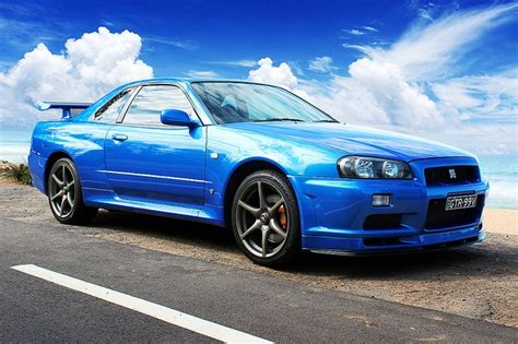 blue nissan skyline nissan skyline r34 in bayside blue move me