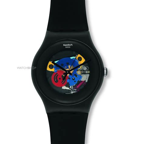 Swatch We Black unisex swatch black lacquered suob101 shop