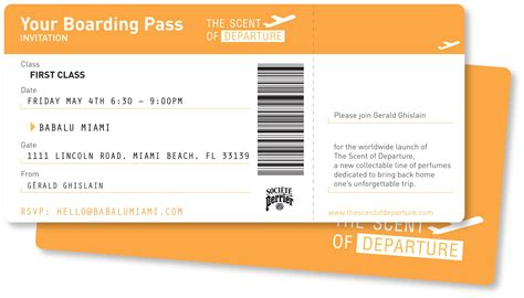 boarding pass the scent of departure launch at babalu miami boarding