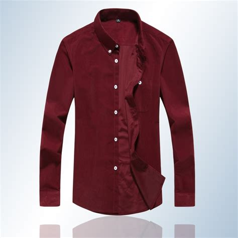 mens solid color flannel shirts brand 100 cotton corduroy mens dress shirts solid color