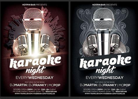 19 Karaoke Night Flyer Templates Sle Templates Karaoke Flyer Template Free