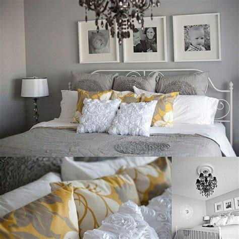 yellow and gray bedrooms gray and yellow bedroom bedroom deco pinterest