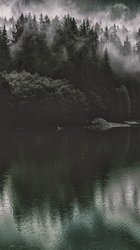 papersco iphone wallpaper nu lake mountain water