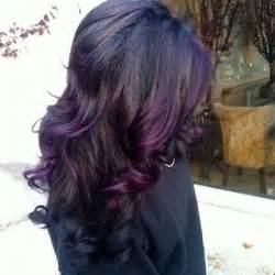 black with purple colour in their hair pinterest the world s catalog of ideas