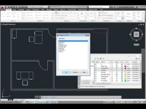 tutorial autocad architecture 2014 autocad 2014 merging layers using the layer properties