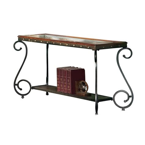 Frenchi Home Furnishing Dark Cherry Storage Console Table Cherry Sofa Table With Storage