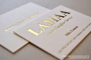 gold foiled business cards gold foil business card lamaa luxury chauffeur service