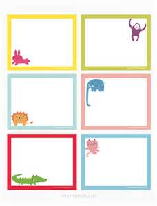 animals printable note cards mr printables