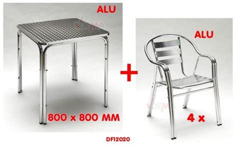 table et chaise de jardin en aluminium table et chaise de jardin en aluminium 187 le de l atelier