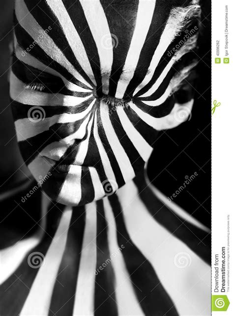 body pattern photography spiral bodyart on the body of a young girl stock photo