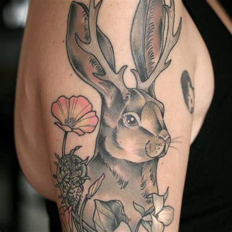 whimsical tattoos 15 whimsical tattoos of the mythical jackalope tattoodo