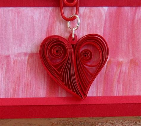 Tutorial Quilling Heart | quilled heart pendant quilling ideas pinterest paper