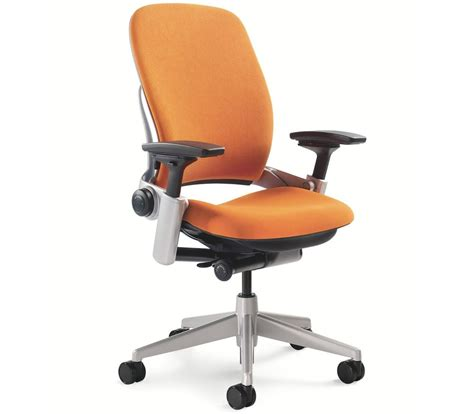 Steelcase Leap Chair Adjustable Buzz2 Pumpkin Orange Steelcase Desk Chair