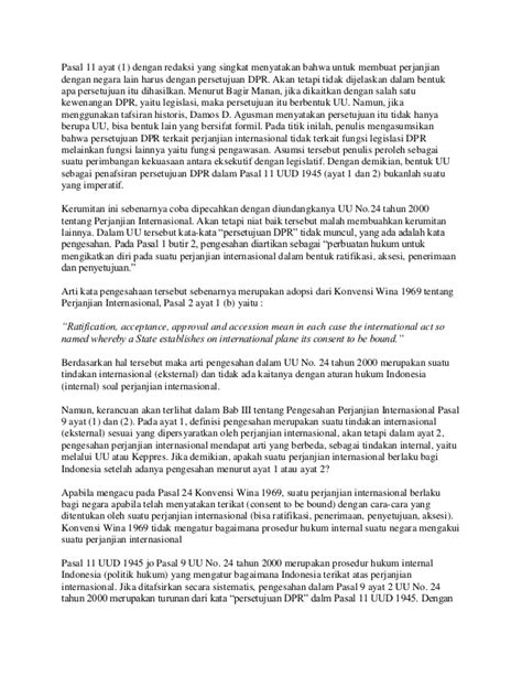 Penafsiran Tematik Hukum Notaris Indonesia politik hukum perjanjian internasional indonesia