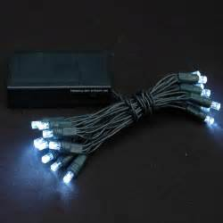 20 light battery operated lights pure white green wire novelty lights inc