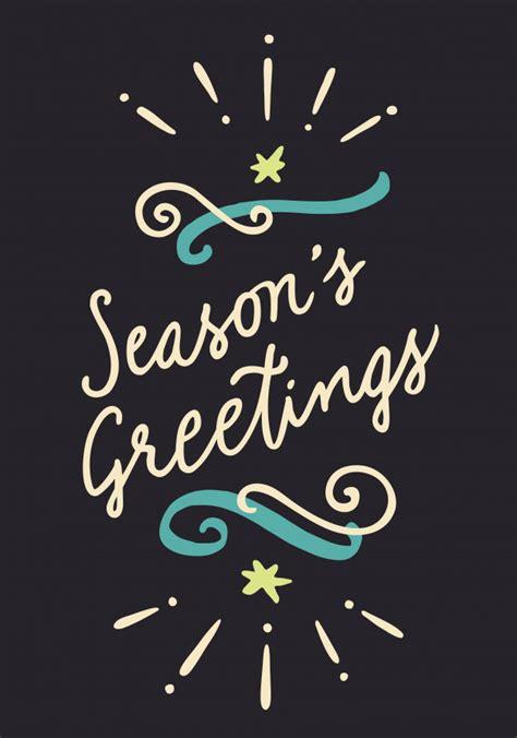 Greeting Poster season s greetings vintage poster