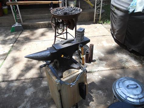 backyard blacksmith backyard forge blacksmithing and ironworks pinterest