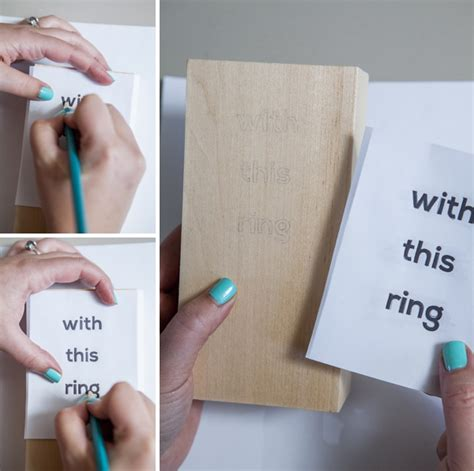 Wedding Ring Holder Design by Make Your Own Wooden Block Wedding Ring Holder