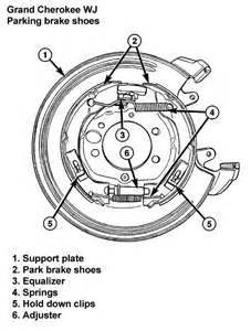2004 Jeep Liberty Brake System Diagram Solved Pictures Of Rear Parking Brake Shoe Assembly Fixya