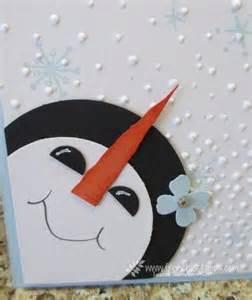 1000 idee su snowman cards su carte di natale fatti in casa biglietti natalizi fai
