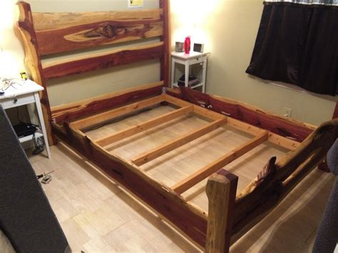 Cedar Bed Frame Cedar Bed Frame By Theunem Lumberjocks Woodworking Community