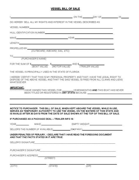 free mississippi boat bill of sale form pdf word doc