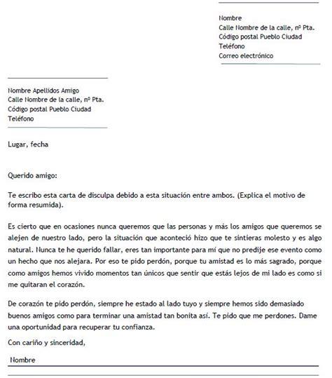 Ejemplo Carta De Disculpa | ejemplo de carta de disculpa a un amigo carta de disculpa