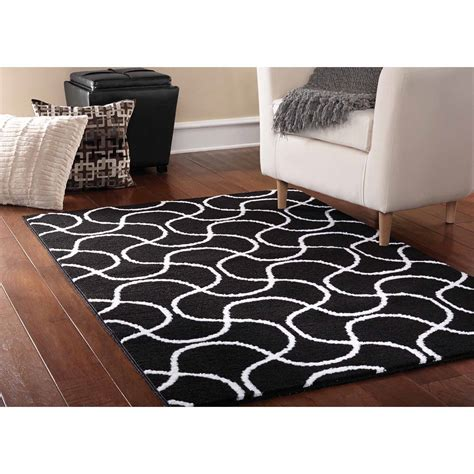 rug in walmart ultimate classic for your room black and white rugs darbylanefurniture