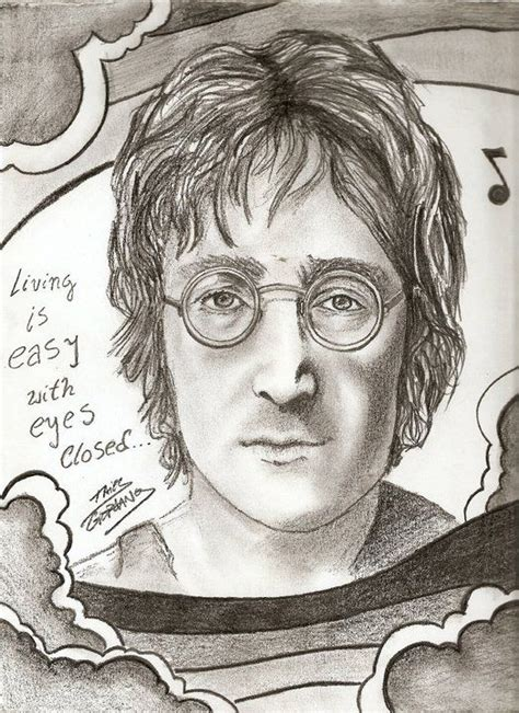 imagenes de john lennon en dibujo dibujos retratos y personajes en valores arte taringa