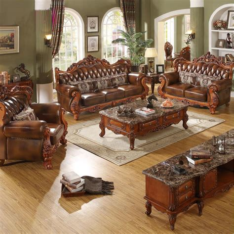 exotic living room furniture webetop european luxury combination living room furnitures top genuine cattle leather sofa set