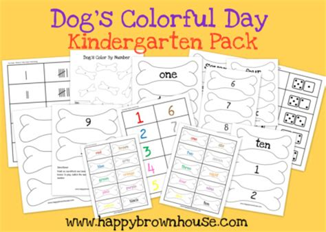 dogs colorful day weekly printables up s colorful day reading comprehension printable robot