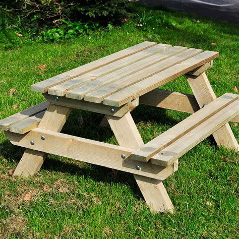 childs wooden garden bench picnic tables the wooden workshop oakford devon