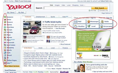 yahoo layout of home page css sprites how yahoo com and aol com improve web performance