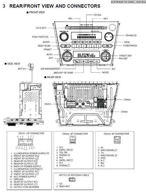 subaru clarion radio wiring diagram wiring diagram