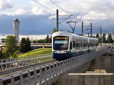 Light Rail To Seatac by Link Light Rail Seatac Airport Station