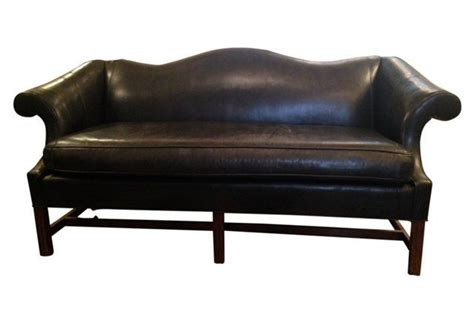 leather camelback sofa black leather camelback sofa furniture