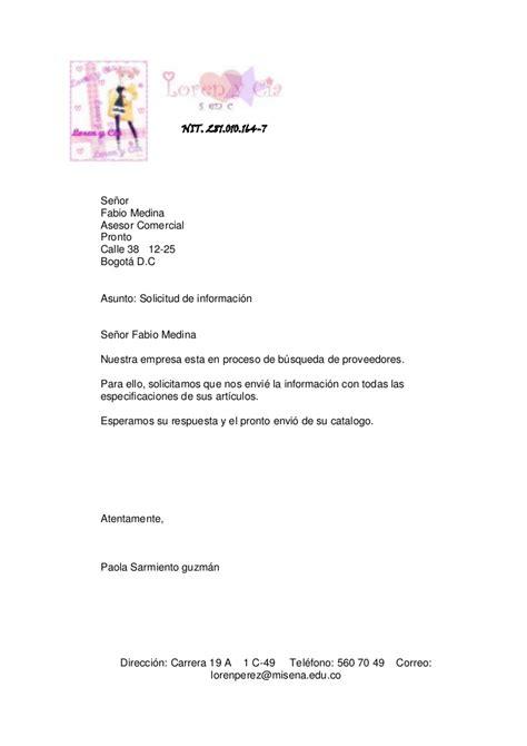 carta de solicitud de informacion solicitud de informacion