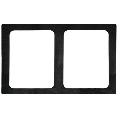 Pan Outline For L by Vollrath Miramar 174 1 2 Size Black Resin Contemporary Food Pan Template 20 7 8 Quot L X 12 3 4 Quot W