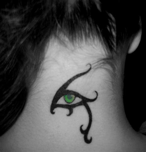 eyeball tattoo on neck 22 horus eye tattoo on neck