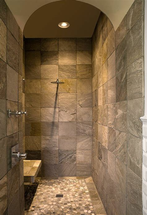 Walk In Bathroom Showers Master Bathroom Ideas Walk In Shower From Pinterest For