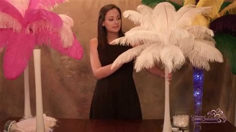 how to make a feather centerpiece ostrich feather centerpieces how to make