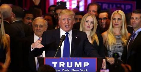donald trump victory speech presidential horse race 2016 trump towers over