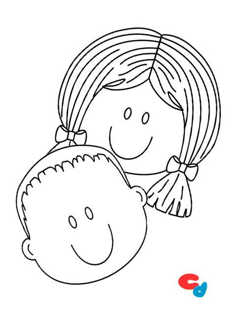 imagenes para colorear infantiles de niños colorear dibujo de caras de ni 241 os 187 colorear dibujos