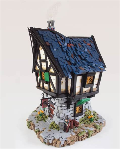 Medieval LEGO Houses Inspired by The Lord Of The Rings and