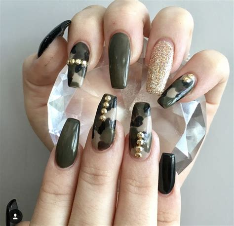Camo Acrylic Nail Designs best 25 camouflage nails ideas on camo nails