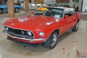 1969 Ford Mustang Convertible 1969 Ford Mustang Convertible 351 4v Black Top 97k